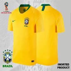 2018 World Cup Brazil Home Jersey - Half Sleeve (Copy)
