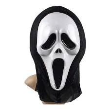 Ghost Mask for Kids - Black and White