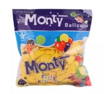 প্লাস্টিক Monty পার্টি বেলুন- Yellow