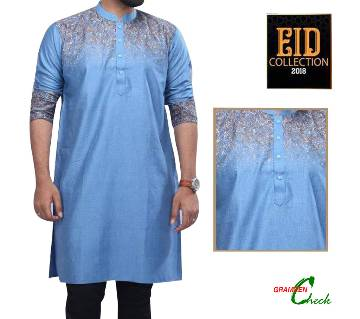 Mens Cotton Printed Slim Fit Panjabi– CP30