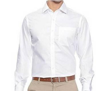 White Silk Mixed Cotton Shirt