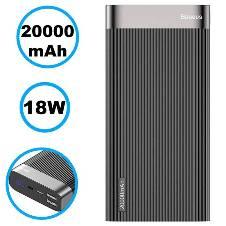 Baseus Parallel PD 20000mAh Power Bank - 18W - Black