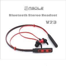 Wireless Bluetooth Headset  Sports-V23 -Red& Black