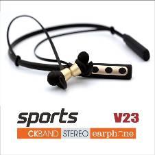 Wireless Bluetooth Headset  Sports-V23 -Gold& Black