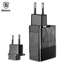 Baseus CCALL - GJ01 Duke ইউনিভার্সাল চার্জার এডাপ্টার  - BLACK