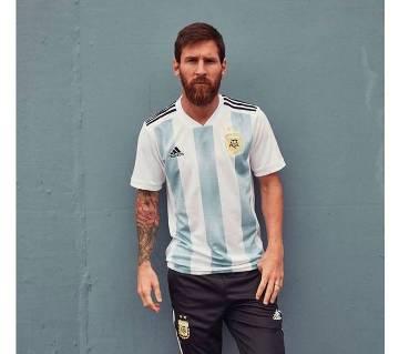 হাফ স্লিভ ওয়ার্ল্ড কাপ হোম জার্সি 2018 (Argentina)