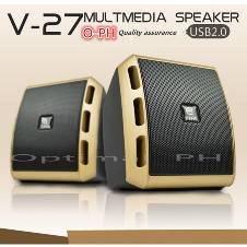 USB Powered Super Bass Stereo Speaker For PC And Mobile V27