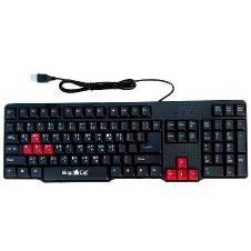 Black Cat USB কী-বোর্ড উইথ গেমিং কী