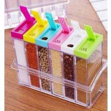 Transparent Spice Storage Jute - 6 Piece