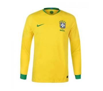 2018 World Cup Brazil Home Long Sleeve Jersey (Copy)