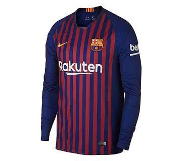 2018 - 19 Barcelona Long Sleeve Home Jersey (Copy)