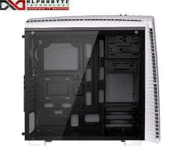 Thermaltake CA-1H6-00M6WN-00 Versa N27 Full Window Snow White Casing