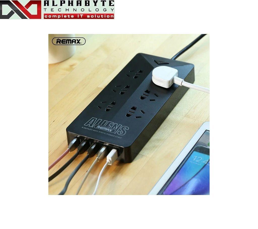 REMAX RU-S4 ALIENS 6 OUTLETS & 5-USB এন্টি স্ট্যাটিক পাওয়ার স্ট্রিপ বাংলাদেশ - 967355