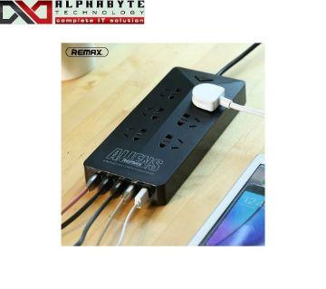 REMAX RU-S4 ALIENS 6 OUTLETS & 5-USB ANTI STATIC POWER STRIP