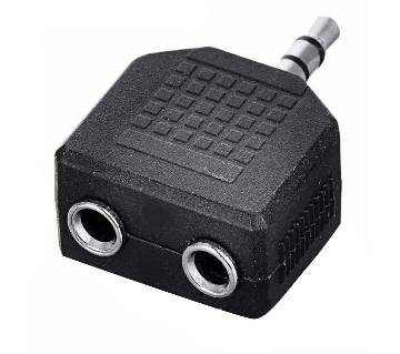 3.5 mm stereo jack splitter adapter