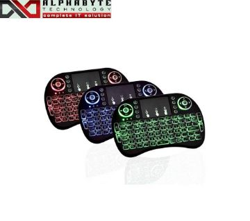 Backlit  Mini key board with touch pad 3 Color Changable - ( single Pc)