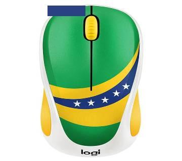 Logitech M238  wireless mouse (brazil flag )