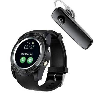 V8 Smart Watch With Free Bluetooth