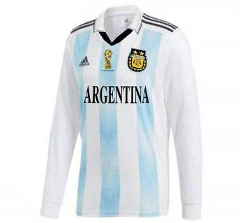2018 World Cup Argentina Full Sleeve Home Jersey (Copy)