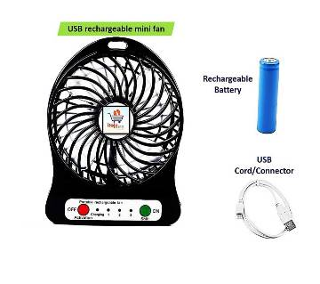 USB rechargeable mini fan