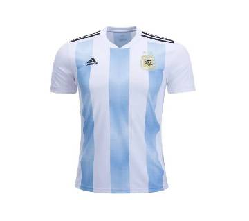 2018 World Cup Argentina Home Short Sleeve Jersey (Copy)