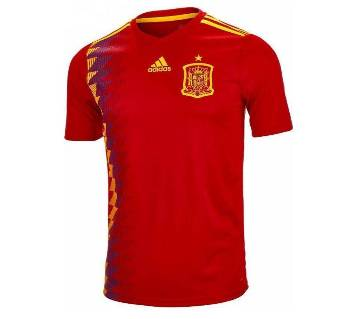 2018 World Cup Spain Home Short Sleeve Jersey