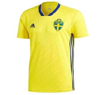 2018 World Cup Sweden Home Short Sleeve Jersey (Copy)