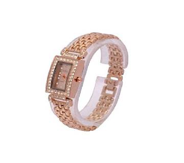 Stainless Steel Analog Watch For Women - Rose Gold