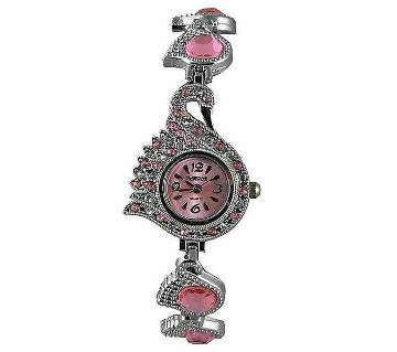 Stainless Steel Analog Watch for Women - Pink
