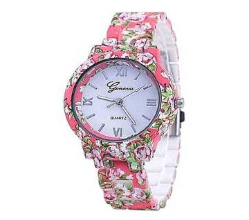 Simulated-ceramics Analog Watch for Women - Pink