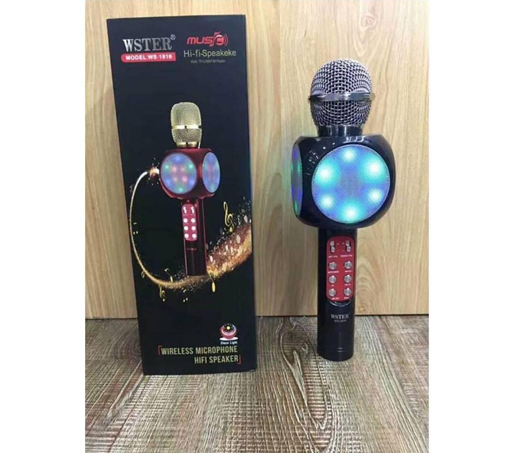 Wster WS-1816 Karaoke KTV MIC পোর্টেবল ব্লুটুথ স্পিকার বাংলাদেশ - 694045