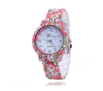Pink Analog Bracelet Watch for Women