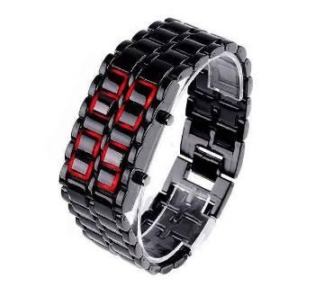 Samurai LED Watch For Unisex - Black