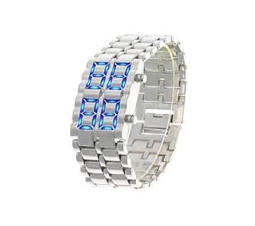 Samurai LED Watch For Unisex - Silver