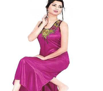 Magenta Silk Night Wear for Women