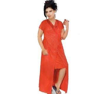 Salmon Night Dress for Women- Red