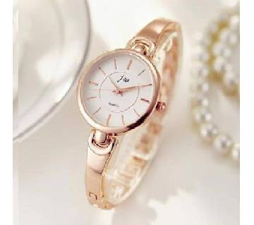 Ladies Stainless Steel Analogue Wrist Watch - Golden