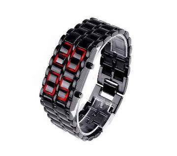 Samurai LED Watch For Unisex - Black