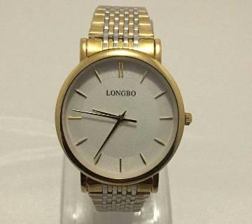 Longbo Golden Analog Wrist Watch