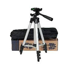 Aluminum Alloy Tripod For Camera and Mobile - Silver and Black