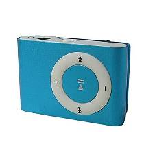 Mini Mp3 Player With TF Slot - Blue