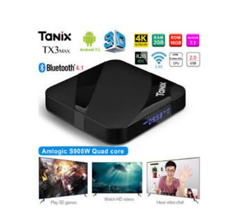 Tanix TX3 Max Android Smart TV Box 2GB RAM 16GB ROM-Black