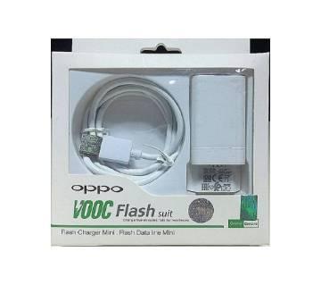 OPPO VOOC ফার্স্ট ফ্লাশ চার্জার With USB Cable - White