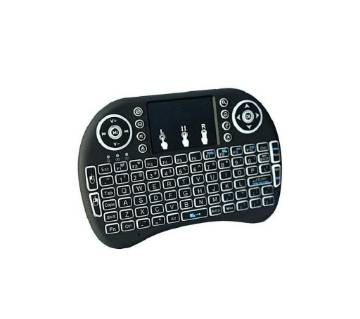 Idpro Backlit Mini Wireless Keyboard With Touchpad Mouse - Black