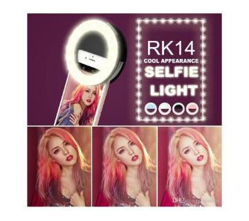RK14 সেলফি লাইট Led Ring Flash Fill Light Universal Luxury Smart Phone LED Flash Fill Light