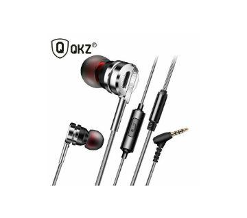 QKZ DM9 Zinc Alloy HiFi Metal In Ear ইয়ারফোন -কালো