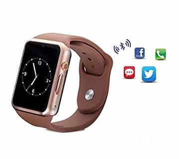 A1 Sim Supported Android Smart Watch - Black