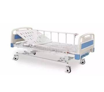 Hospital bed with two revolving levers