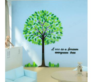 Happy Tree 3D acrylic ওয়াল স্টিকার