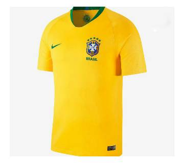 2018 World Cup Brazil Half Sleeve Home Jersey (Copy)